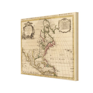 North America map Gallery Wrapped Canvas