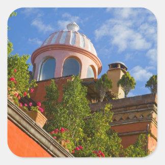 North America, Mexico, Guanajuato state, San 4 Square Stickers