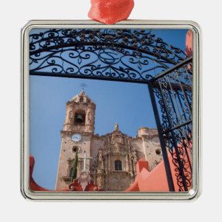 North America, Mexico, Guanajuato State. The Silver-Colored Square Decoration