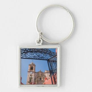 North America, Mexico, Guanajuato State. The Silver-Colored Square Key Ring