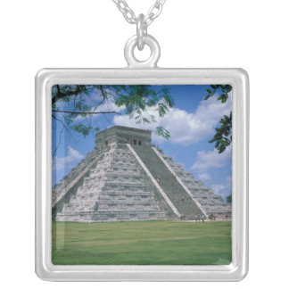 North America, Mexico, Yucatan Peninsula, 2 Silver Plated Necklace