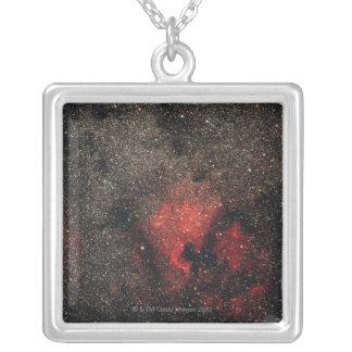 North America Nebula and Pelican Nebula Silver Plated Necklace