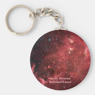 North America Nebula Infrared Basic Round Button Key Ring