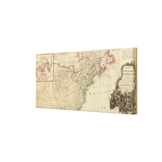 North America north Canvas Print