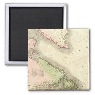 North America Northeast Square Magnet