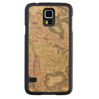 North America Olney Map Carved Maple Galaxy S5 Case