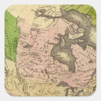 North America Olney Map Square Sticker