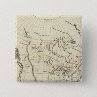 North America outline map 15 Cm Square Badge