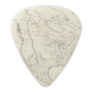 North America outline map Acetal Guitar Pick