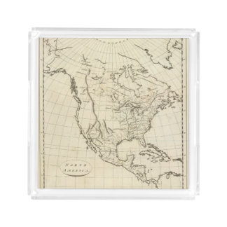 North America outline map Acrylic Tray