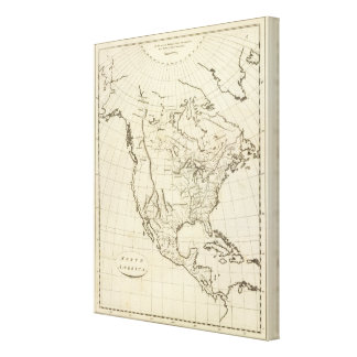 North America outline map Canvas Prints