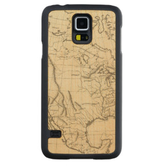 North America outline map Carved Maple Galaxy S5 Case