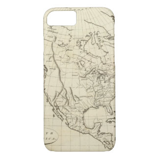 North America outline map iPhone 8/7 Case