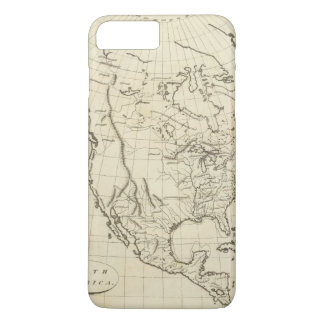 North America outline map iPhone 8 Plus/7 Plus Case