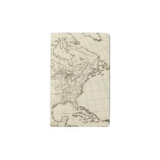 North America outline map Pocket Moleskine Notebook