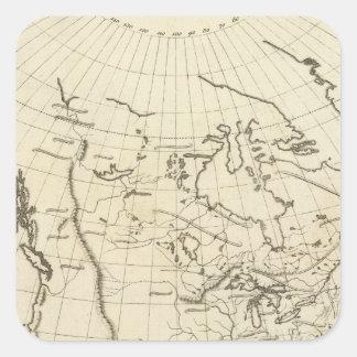 North America outline map Square Sticker