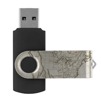 North America outline map USB Flash Drive