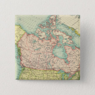 North America political 15 Cm Square Badge