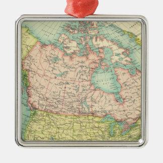 North America political Silver-Colored Square Decoration