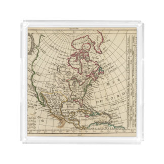 North America School Acrylic Tray