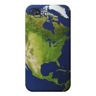 North America Seen from Space 2 iPhone 4 Case