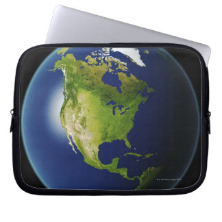 North America Seen from Space 2 Laptop Sleeve
