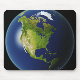 North America Seen from Space 2 Mouse Mat