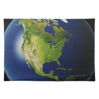 North America Seen from Space 2 Placemat