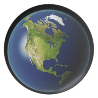 North America Seen from Space 2 Plate