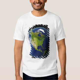 North America Seen from Space 2 Tshirts
