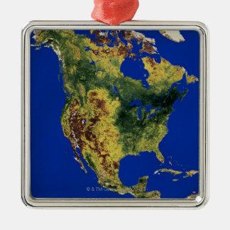 North America Silver-Colored Square Decoration