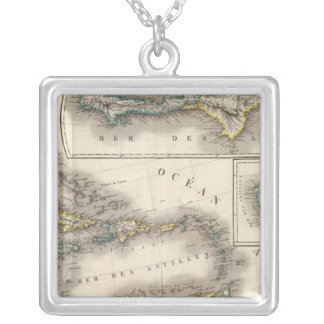 North America Southeast Silver Plated Necklace