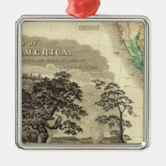 North America Southwest Silver-Colored Square Decoration