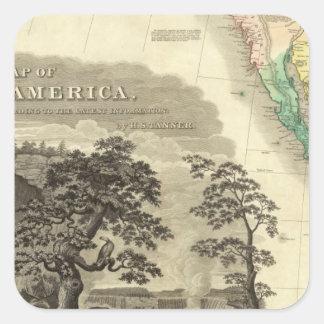 North America Southwest Square Sticker