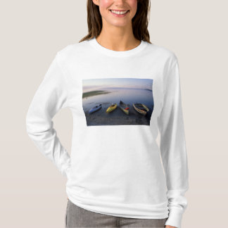 North America, US, ME, Boats on the shore of T-Shirt