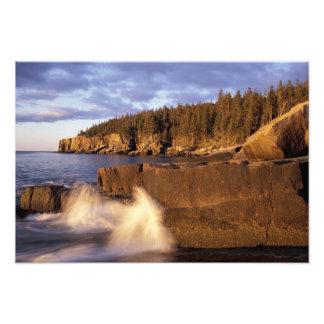 North America, US, ME, The rocky Maine coast. Photographic Print