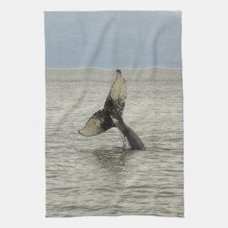 North America, USA, AK, Inside Passage. Humpback Tea Towel