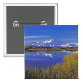North America, USA, Alaska, Denali NP, 15 Cm Square Badge