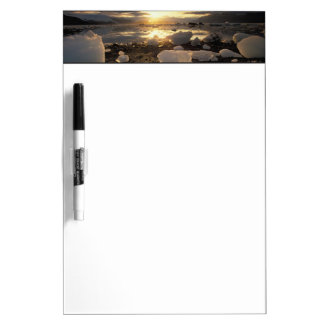 North America, USA, Alaska, Ice Bay, Icescape, Dry Erase Board