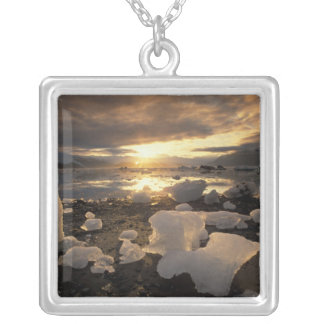 North America, USA, Alaska, Ice Bay, Icescape, Silver Plated Necklace