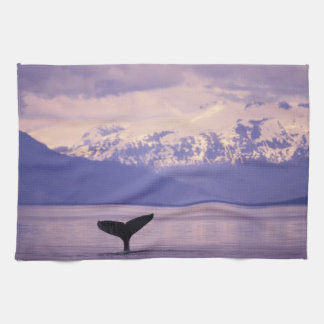 North America, USA, Alaska, Inside Passage. Tea Towel