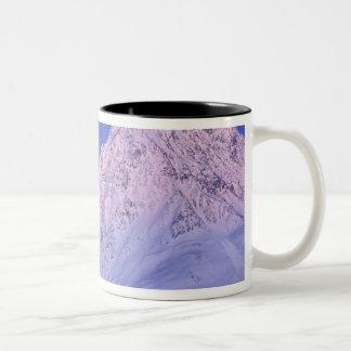 North America, USA, Alaska, Knik River, Two-Tone Coffee Mug