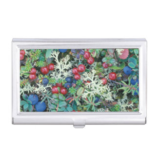 North America, USA, Alaska, Landscape, berries Business Card Holder