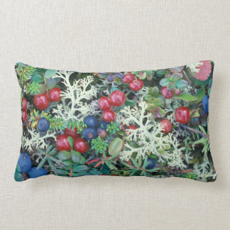 North America, USA, Alaska, Landscape, berries Lumbar Pillow