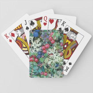 North America, USA, Alaska, Landscape, berries Poker Deck