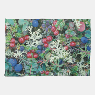 North America, USA, Alaska, Landscape, berries Tea Towel