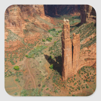 North America, USA, Arizona, Navajo Indian 7 Square Sticker