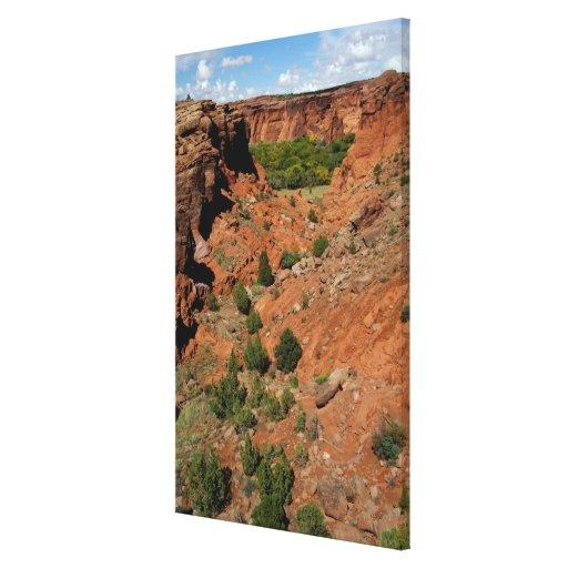 North America, USA, Arizona, Navajo Indian Stretched Canvas Print