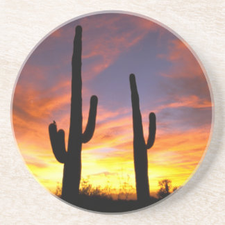 North America, USA, Arizona, Sonoran Desert. Beverage Coaster