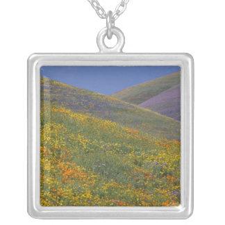 North America, USA, California, Los Angeles Square Pendant Necklace